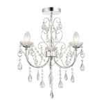 Endon Tabitha 61251 3 light Flush Chandelier